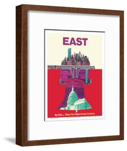 East By Train - Liberty Bell Philadelphia, Washington, New York by David Klein