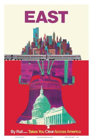 East By Train - Liberty Bell Philadelphia, Washington, New York