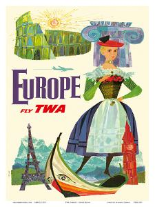 Europe - Fly TWA (Trans World Airlines) by David Klein