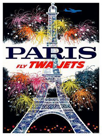 Fly TWA Jets / Salutation Paris