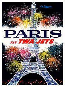 Fly TWA Jets / Salutation Paris by DAVID KLEIN