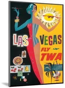 Fly TWA Las Vegas, c.1960 by David Klein