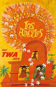 Fly TWA Los Angeles c.1959 by David Klein