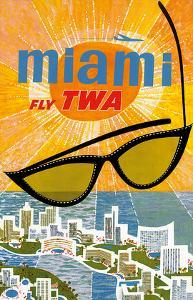 Fly TWA Miami c.1963 by David Klein