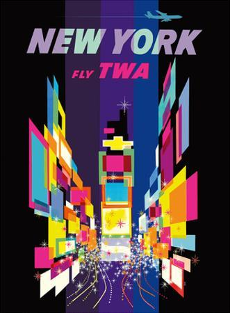 Fly TWA New York c.1958