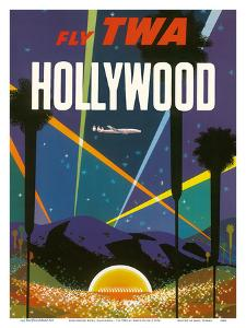 Hollywood Bowl, California - Fly TWA (Trans World Airlines) by David Klein