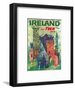 Ireland - Fly TWA Jets - Trans World Airlines - Boeing 707 over Irish Colorful Castles by David Klein