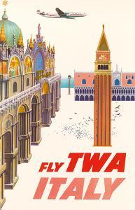 Italy - Fly TWA (Trans World Airlines) - Piazza San Marco (St. Mark Plaza) by David Klein