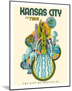 Kansas City - Fly TWA (Trans World Airlines) - The City of Fountains by David Klein