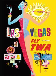 Las Vegas - Fly TWA (Trans World Airlines) - with Lockheed L-1049 Super Constellation Aircraft by David Klein