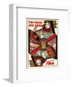 Las Vegas, Nevada - Fly TWA (Trans World Airlines) - Queen Playing Card by David Klein