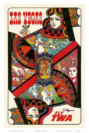 Las Vegas, Nevada - Fly TWA (Trans World Airlines) - Queen Playing Card