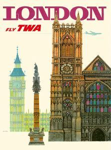 London UK - Fly TWA (Trans World Airlines) - Westminster Abbey Church by David Klein