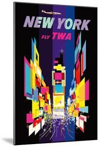 New York - Fly TWA - Times Square - Lockheed Constellation Connie by David Klein