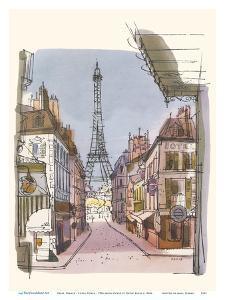 Paris, France - Eiffel Tower - TWA (Trans World Airlines) Menu Cover by David Klein
