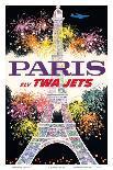 1964 New York World's Fair - Fly TWA Jets (Trans World Airlines) - Unisphere Globe-David Klein-Art Print