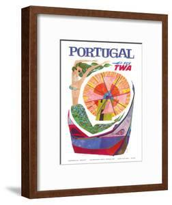 Portugal - Fly TWA (Trans World Airlines) - Mermaid Windmill by David Klein