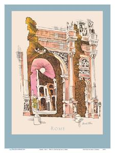 Rome, Italy - Colosseum - TWA (Trans World Airlines) Menu Cover by David Klein