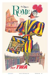 Rome Italy - Pontifical Swiss Guard - Fly TWA (Trans World Airlines) by David Klein