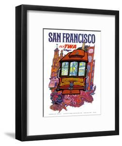 San Francisco, USA - Fly TWA (Trans World Airlines) - Presidio, California, Market Street Cable Car by David Klein