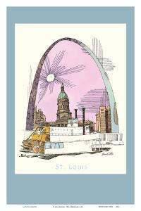St. Louis, Missouri - Gateway Arch - TWA (Trans World Airlines) Menu Cover by David Klein