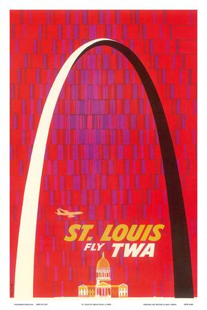 St. Louis, USA - Fly TWA (Trans World Airlines) - The Gateway Arch Monument