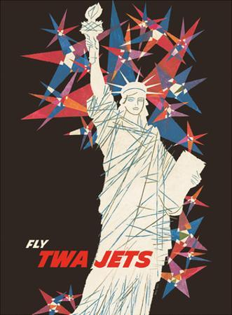 Statue of Liberty - New York - Fly TWA Jets (Trans World Airlines)