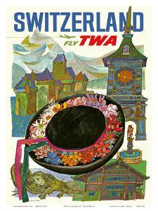 Switzerland - Fly TWA (Trans World Airlines) by David Klein