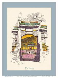 Taipei Taiwan - National Palace Museum - TWA (Trans World Airlines) Menu Cover by David Klein