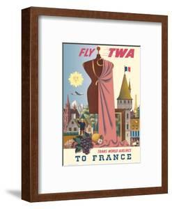 To France - Fly TWA (Trans World Airlines) by David Klein