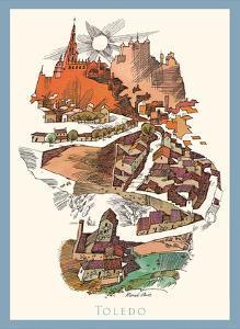 Toledo, Spain - Menu Cover - TWA (Trans World Airlines) by David Klein