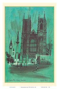 Westminster Abbey, London - TWA (Trans World Airlines) Menu Cover by David Klein