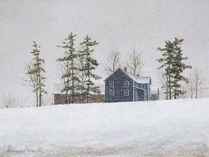 Snowy Ridgeline by David Knowlton