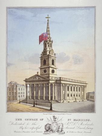 Church of St Martin-In-The-Fields, Westminster, London, C1825