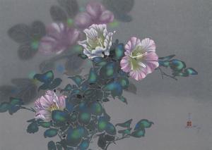 Purple Flowers on Vine 21 by David Lee