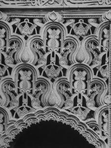 Detail Closeup of Panel over Doorway Arch in the Alhambra by David Lees