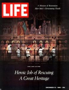 Heroic Job of Rescuing a Great Heritage, Restoring the Last Supper after Floods, December 16, 1966 by David Lees