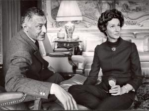 Italy Fiat President Giovanni Agnelli with His Wife at Home Near Turin by David Lees
