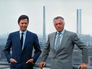 President of Fiat Gianni Agnelli Standing with Brother, Umberto Agnelli by David Lees