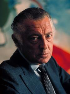 President of Fiat Gianni Agnelli by David Lees