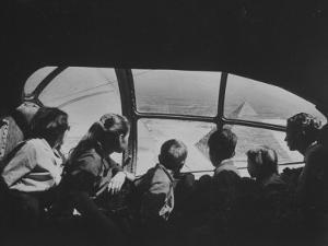 Retired Industrialist Thomas W. Kendall's Family Vacationing in their Private Plane by David Lees
