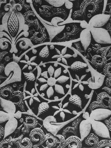 Stylized Vegetation Motif in a Stucco Panel in the Alhambra by David Lees