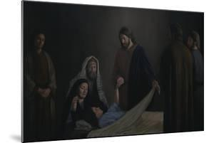 Jesus Raising the Daughter of Jairus by David Lindsley