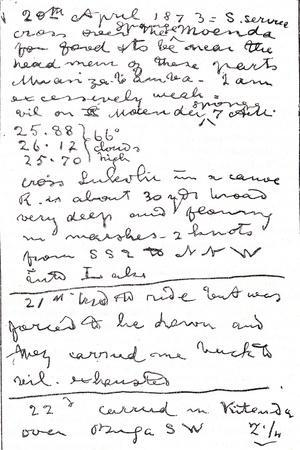 Last Lines Written by Dr. David Livingstone, Illustration from 'The World in the Hands',…