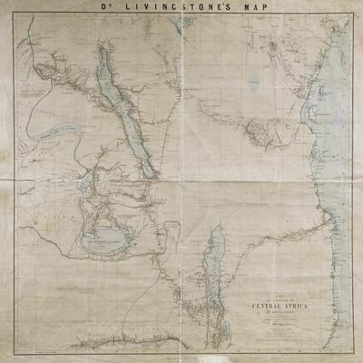 Map of a Portion of Central Africa by Livingstone, from His Own Surveys, Drawings and…