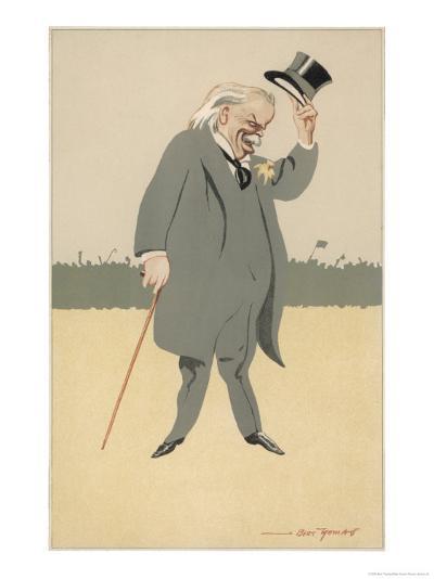 David Lloyd-George British Politician-Bert Thomas-Giclee Print