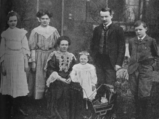 'David Lloyd George - The Great Statesman Surrounded By His Family', 1905, (c1925)-Unknown-Photographic Print