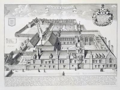 Balliol College, Oxford, from Oxonia Illustrata, Published 1675