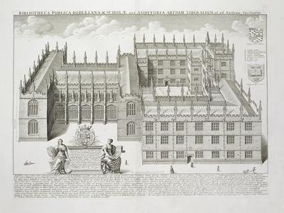 Bodleian Library, Oxford, from 'Oxonia Illustrata', Published 1675 (Engraving)