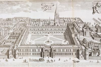 Christ Church College, Oxford, from 'Oxonia Illustrated', Published 1675